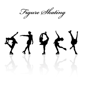 Figure-skating-design-vector-silhouettes